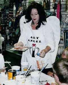 """""""The Art Angel painting with childen"""""""