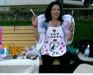 Face painting with The Art Angel