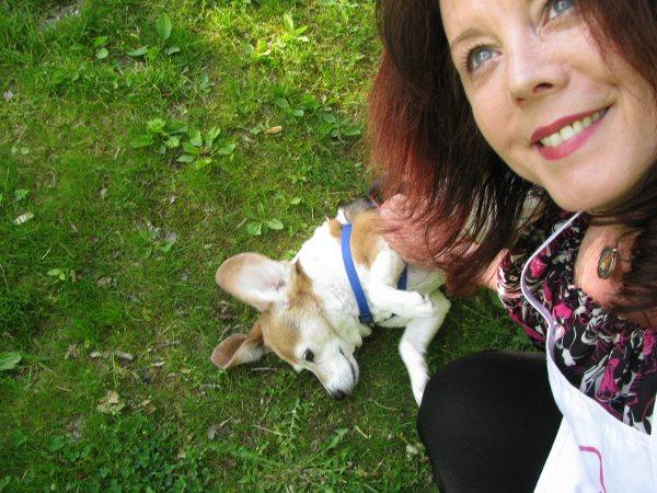 Artist Bethann Shannon & Rosie The Beagle in The Berkshires