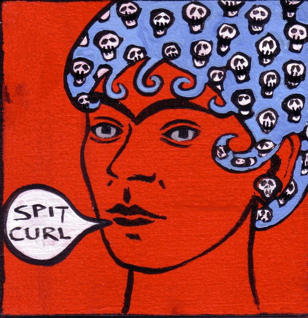 Frida Kahlo Spit Curls by Bethann Shannon
