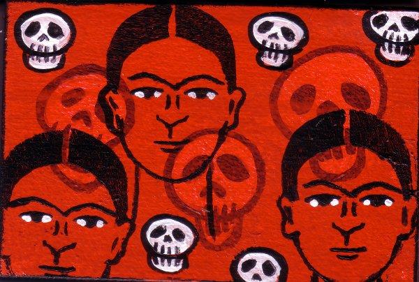 Frida Kahlo & Skulls by Bethann Shannon
