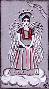 """FRIDA ANGEL"" folk art by Bethann Shannon"