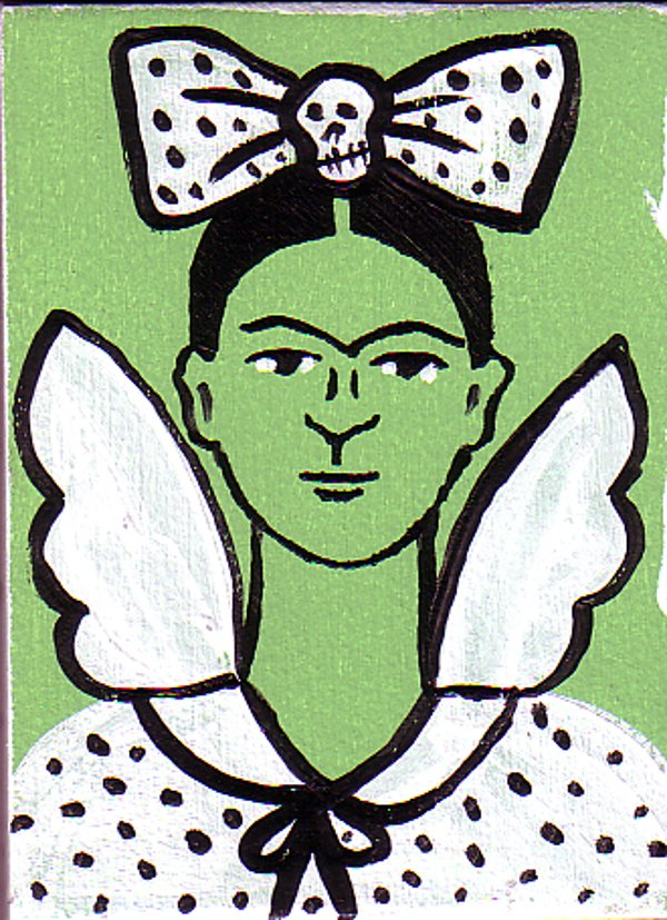Frida Angel With Skull Bow