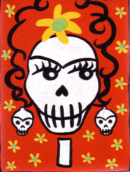 Frida Kahlo Skull ~ Day Of The Dead