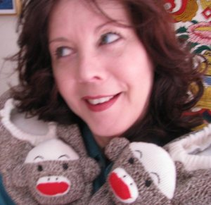 Sock Monkey slippers for artist Bethann Shannon