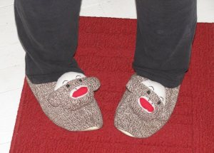 my sock monkey slippers