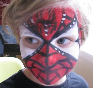 Spider Man Face Paint